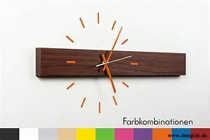 Küchen Wanduhren Design : design wanduhr nussbaum zifferblatt online kaufen ~ Markanthonyermac.com Haus und Dekorationen