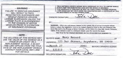 Texas Boat Registration Without Title by Delaware Division Of Motor Vehicles Vehicle Services