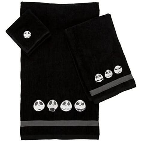 skellington towel set from our nightmare before