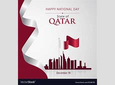Qatar national day december 18 Royalty Free Vector Image