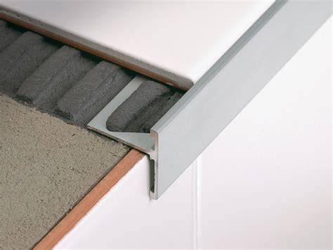 linear metal stair nosing profile stairtec sr by profilitec