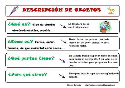 Blog De Quinto Del Ceip Lobillo La DescripciÓn De Objetos