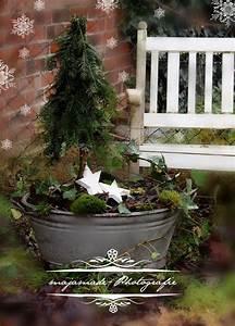 Weihnachtsdeko Für Draußen Basteln : christmas deco zinkwanne mit mini tanne deko pinterest zinkwanne blickfang und t ren ~ Whattoseeinmadrid.com Haus und Dekorationen