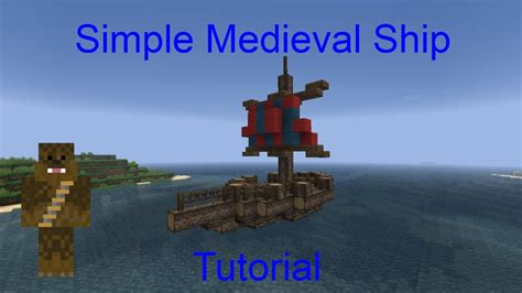 How To Make A Little Boat In Minecraft by Minecraft Small Medieval Ship Tutorial Youtube