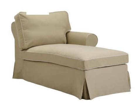 ikea ektorp right chaise longue slipcover cover idemo beige