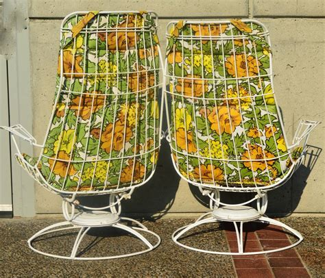 pair homecrest rocking lounge chairs and ottoman w