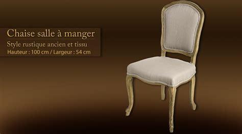 chaise salle 224 manger style rustique ancien