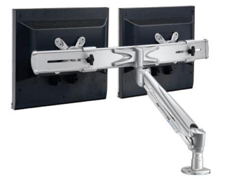 dual desk mount monitor arm la 615 1