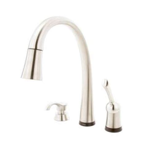 Delta Touch Kitchen Faucet Home Depot by Delta Pilar Single Handle Pull Sprayer Kitchen Faucet