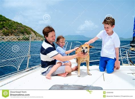 Catamaran Sailing Family by Family Sailing On A Luxury Yacht Stock Photo Image 43568468