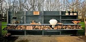 Küche Selber Bauen Beton : outdoor k che beton anthrazit utensilien abstellraum holz material terasse pinterest k che ~ Markanthonyermac.com Haus und Dekorationen