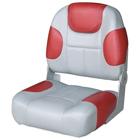 Red Fishing Boat Seats by Wise 174 Mid Back Fishing Boat Seat 203994 Fold Down