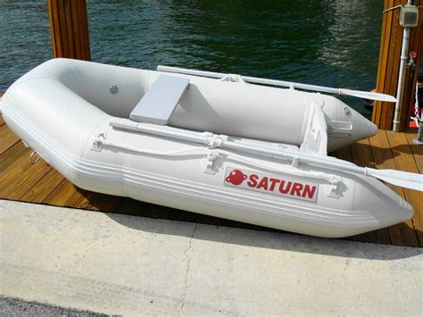 Blow Up Tender Boat by Saturn Sd230 Portable Lightweight Inflatable Yacht