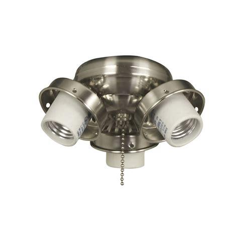 shop harbor 4 light brushed chrome ceiling fan