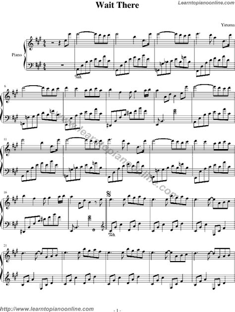 Yiruma  Wait There Free Piano Sheet Music  Learn How To
