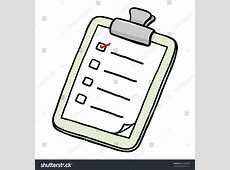 Clipboard Check Lists Paper Cartoon Vector Stock Vector