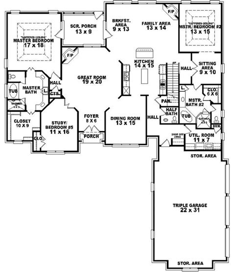 house plan 1 story modern house plans vdomisadinfo one story house plans with in suite