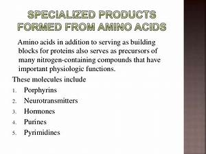 Specialized products of Amino Acid