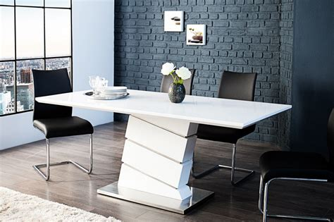 table blanche design salle manger inspirations avec table de salle manger design avec photo