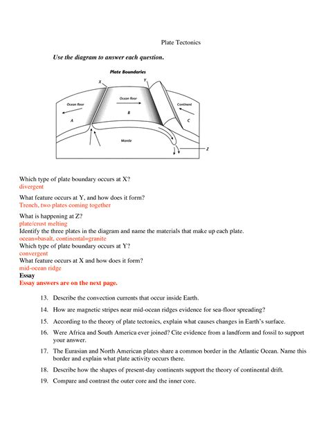 worksheets seafloor spreading worksheet chicochino worksheets and printables