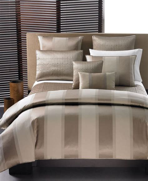 closeout hotel collection quot wide stripe bronze quot bedding collection bedding collections bed