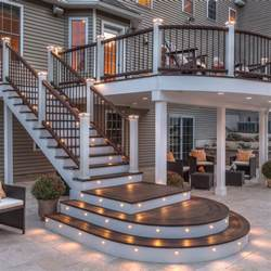 Patio And Deck Lighting Ideas by Chic Bamboo Fencing In Patio Eanf With Patio Deck