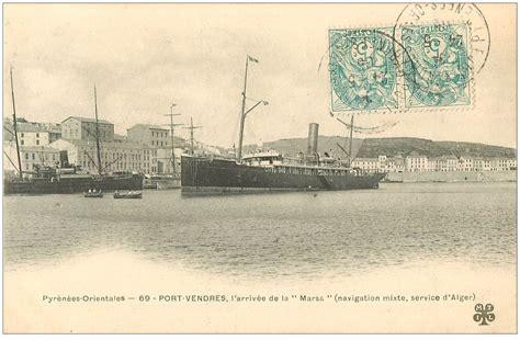 66 port vendres arriv 233 e d alger de la marsa 1905 navire paquebot