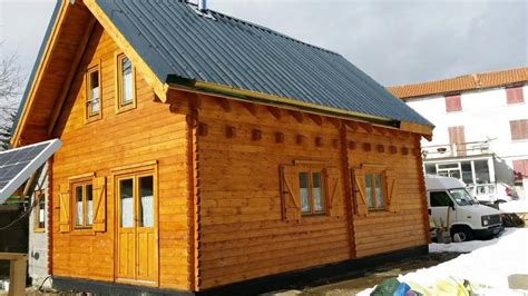 chalet habitable de 42m2 avec mezzanine en bois en kit