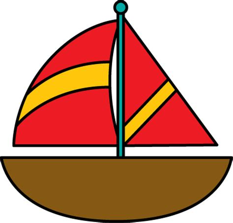 Red Boat Clipart by Brown Sailboat Clip Art Brown Sailboat Image
