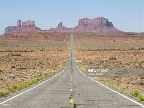 One Of The Most Famous Views Of The Monument Valley Is The