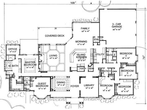 6 Bedroom Home Designs : 5 To 6 Bedroom House Plans Archives