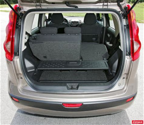 nissan note dimensions coffre