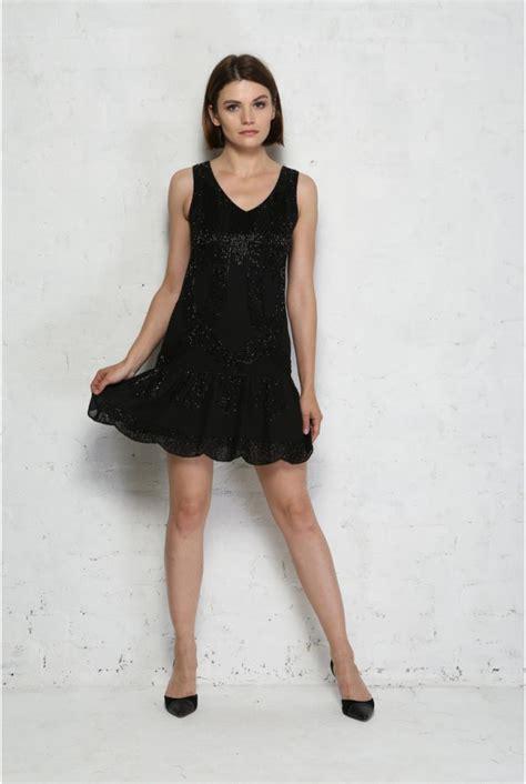 black deco flapper dress flapper