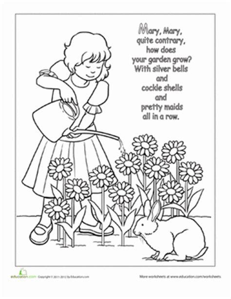 Row Row Row Your Boat Lyrics Polar Bear by Nursery Rhyme Coloring Mary Mary Quite Contrary