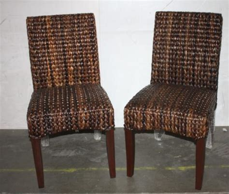 pottery barn seagrass side chair set of two