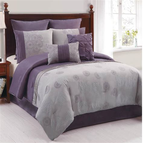 Lavender And Grey Bedding by Purple Comforter Deals On 1001 Blocks