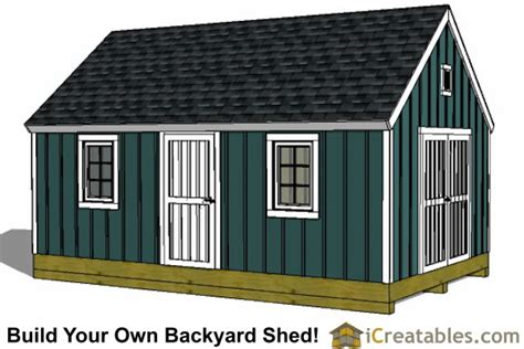 shed design and cost plan