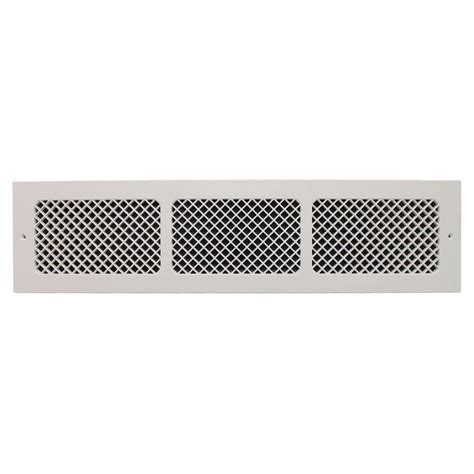 smi ventilation products essex base board 6 in x 30 in polymer resin decorative cold air