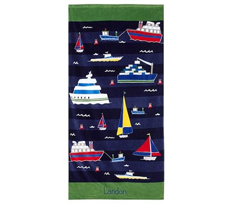 Boat Beach Towels by Classic Boat Beach Towel Pottery Barn Kids