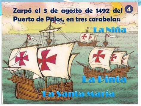 Barcos De Cristobal Colon La Niña La Pinta Yla Santa Maria by Las 3 Carabelas De Cristobal Colon Free Resumen De Las