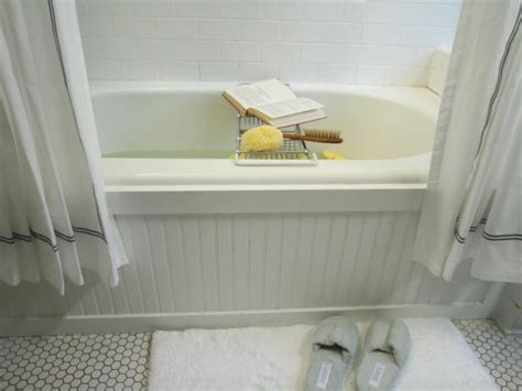 Update A Bathtub Surround Using Beadboard Hgtv