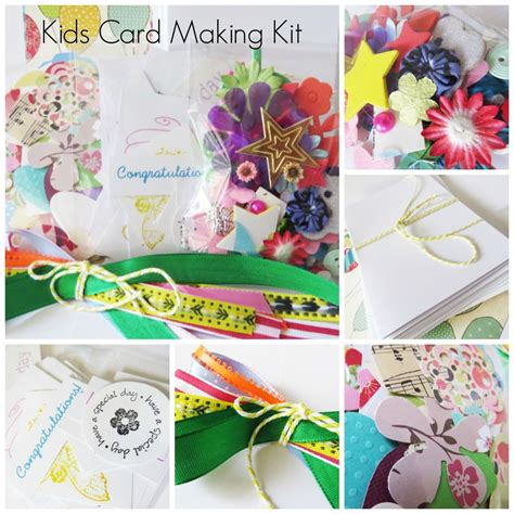 "Kids Card Making Kit  "" I Want It All"", Childrens Craft"
