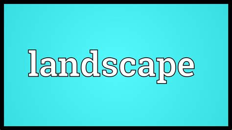 Landscape Meaning
