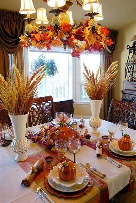 fall dining room table decorations fall