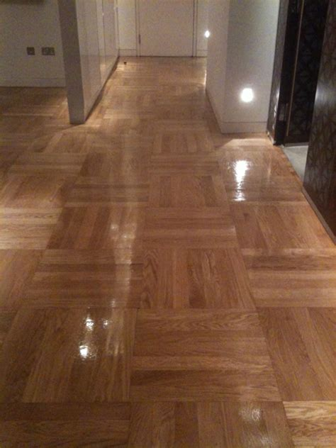 through the process wood floor buffing