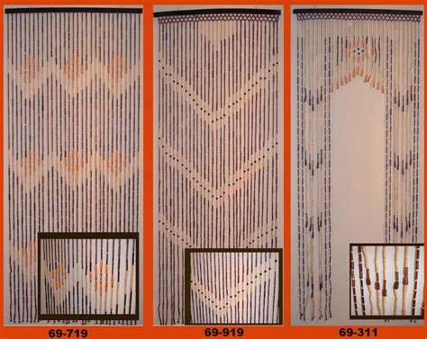 bamboo wood beaded door curtains 3 patterns available ebay