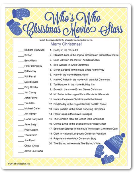Fun Christmas Party Game  Movie Stars, Movie And Star