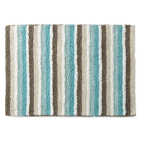 jcpenney home cotton reversible stripe bath rug collection jcpenney
