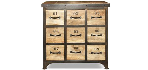 vintage industrial chest of drawers wood 9 drawers chest of drawers