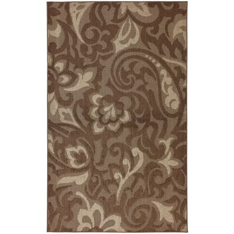 the home depot area rugs mohawk home forte cocoa 8 ft x 10 ft area rug the